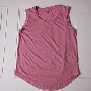 Madewell Sleeveless Tee Pink